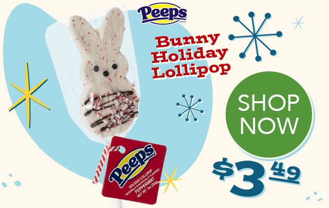 PEEPS Bunny Holiday Lollipop - $3.49 - SHOP NOW