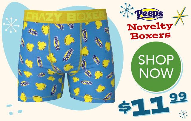 PEEPS Novelty Men's Boxers  - $11.99 - SHOP NOW