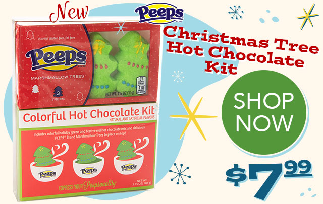 PEEPS Christmas Tree Hot Chocolate Kit - $7.99 - SHOP NOW