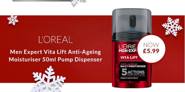 Men Expert Vita Lift Anti-Ageing Moisturiser 50ml Pump Dispenser