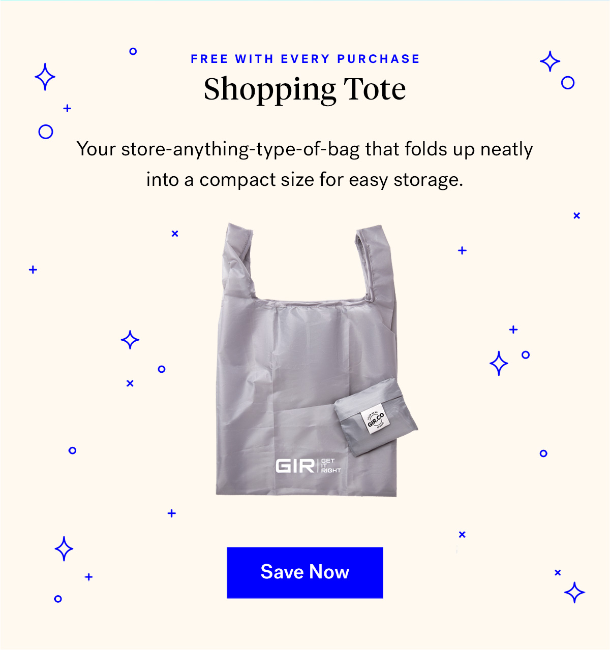 GIR Reusable Shopping Tote (badge for free with every purchase)