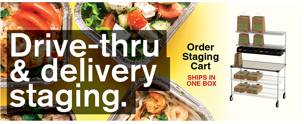 Drive-thru and delivery staging