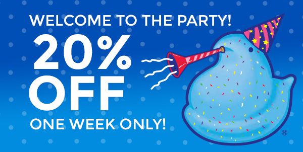 Welcome To The Party! 20% OFF - One Week Only!