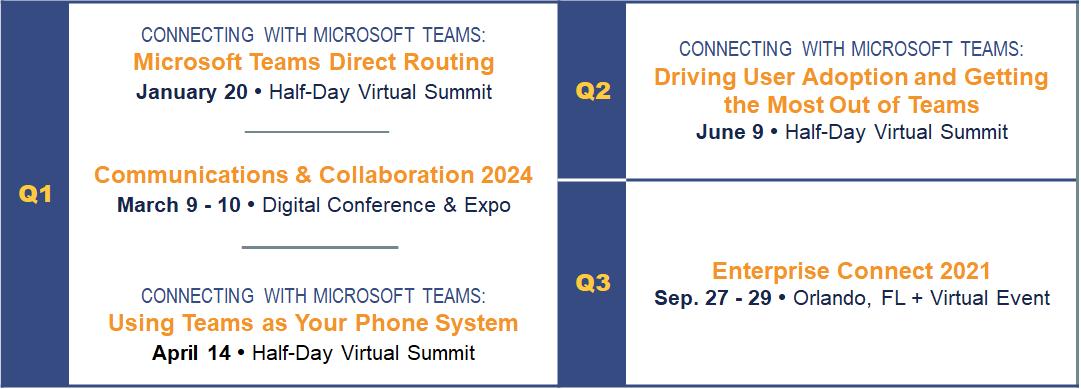 Enterprise Connect 2021 Event Calendar