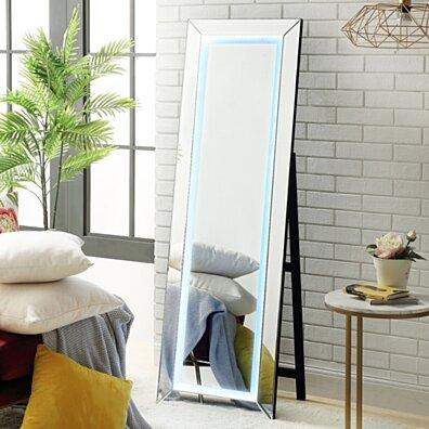 Miya LED Full Length Mirror - Floor Standing | Touch Sensor Light | Foldable | Inspired Home