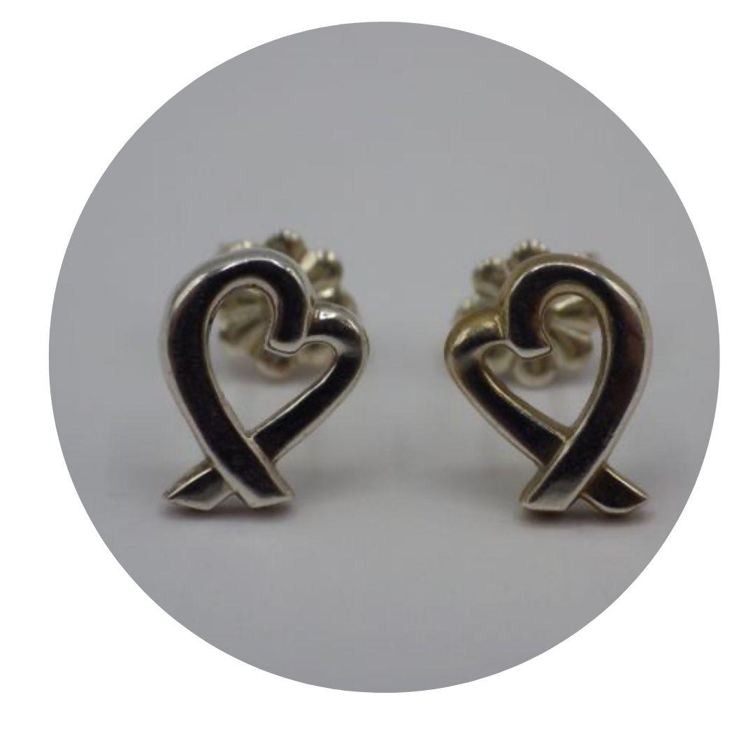 Tiffany & Co. 925 Sterling Loving Heart Earrings