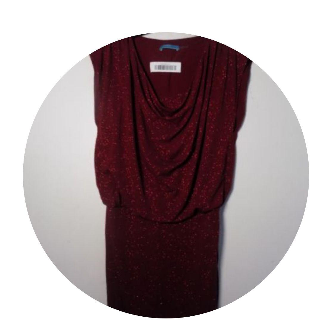 Alice + Olivia Embellished Wine Red Dress