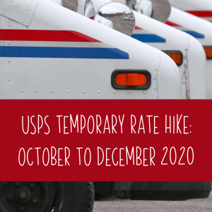 USPS Planned Shipping Rate Increase - October to December 2020 - cuttingforbusiness.com