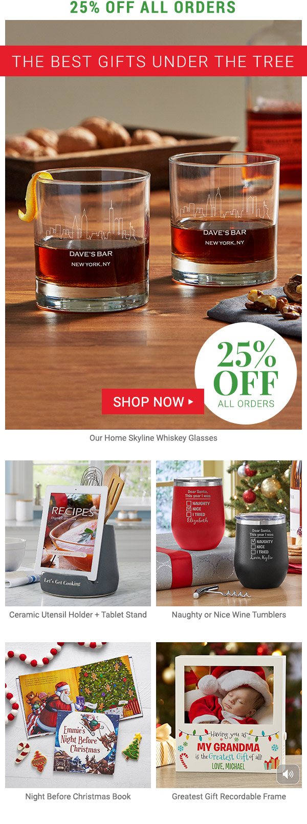 Save 25% your order. Shop Now.
