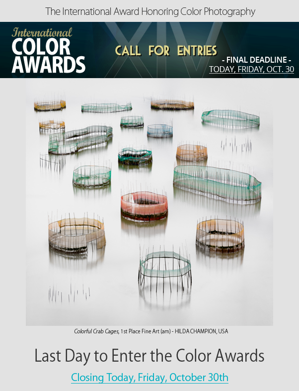 Last Day to Enter the Color Awards - Final Deadline is Friday, October 30th