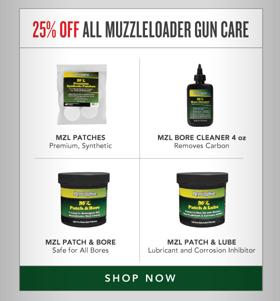 25% OFF All Muzzleloader Gun Care