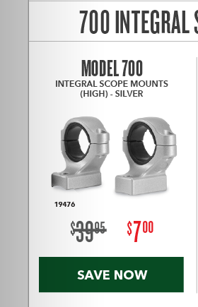 Clearance Special - 700 Integral Scope Mounts