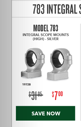 Clearance Special - 783 Integral Scope Mounts