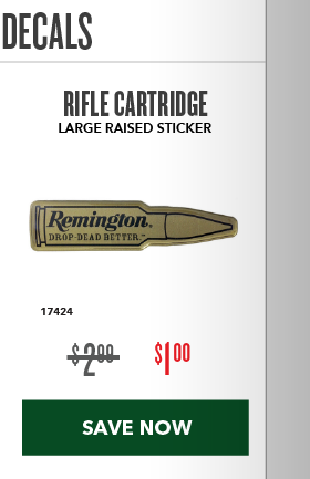 Clearance Special - Raised Decals
