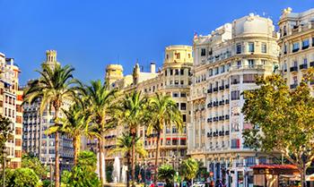 Warm Mediterranean town