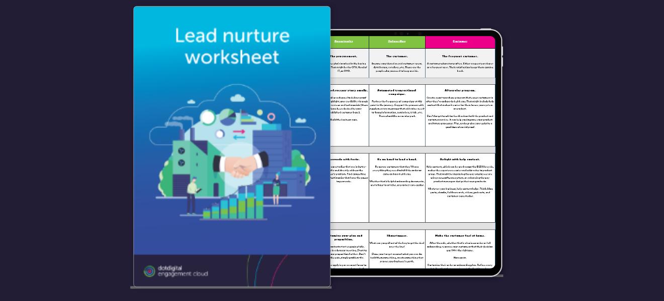 Lead nurture matrix worksheet