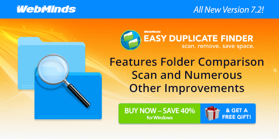 Easy Duplicate Finder 7.2: Features Folder Comparison Scan and Numerous Other Improvementsand Mac