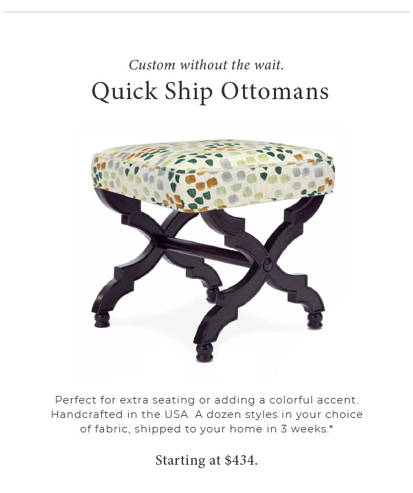 Quick Ship Ottomans
