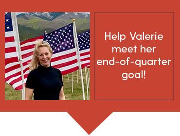 Help Valerie meet her end-of-quarter goal!