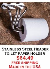 Stainless Steel Header Toilet Paper Holder