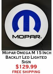 Mopar Omega M 15 Inch Backlit Led Lighted Sign