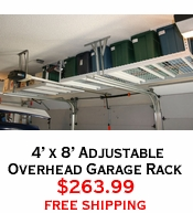 4' x 8' Adjustable Overhead Garage Rack