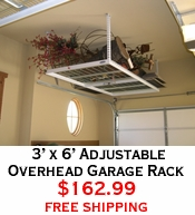 3' x 6' Adjustable Overhead Garage Rack