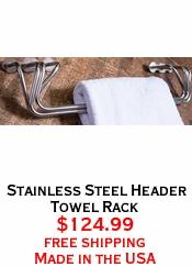Stainless Steel Header Towel Rack