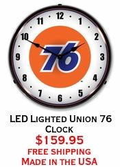 LED Lighted Union 76 Clock