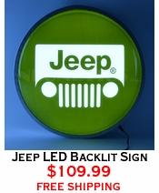 Jeep LED Backlit Sign
