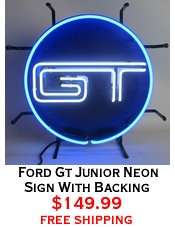Ford Gt Junior Neon Sign With Backing