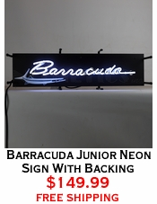 Barracuda Junior Neon Sign With Backing