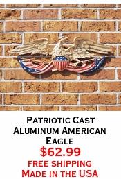 Patriotic Cast Aluminum American Eagle