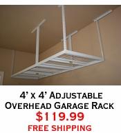 4' x 4' Adjustable Overhead Garage Rack