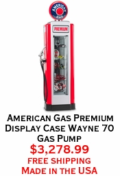 American Gas Premium Display Case Wayne 70 Gas Pump