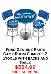 Ford Genuine Parts Game Room Combo - 2 Stools with backs and Table