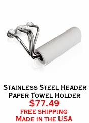 Stainless Steel Header Paper Towel Holder