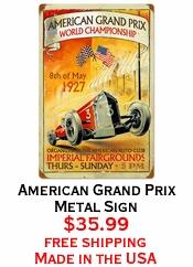 American Grand Prix Metal Sign