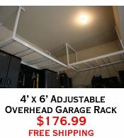 4' x 6' Adjustable Overhead Garage Rack