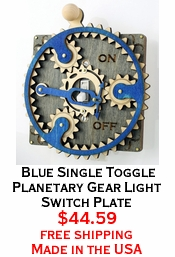 Blue Single Toggle Planetary Gear Light Switch Plate
