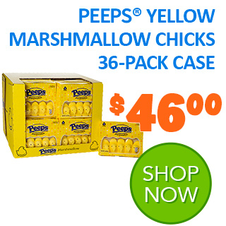 PEEPS Yellow Marshmallow Chicks 36-pack case