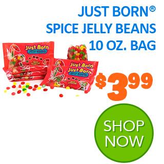 Just Born Spice Jelly Beans 10 oz. bag