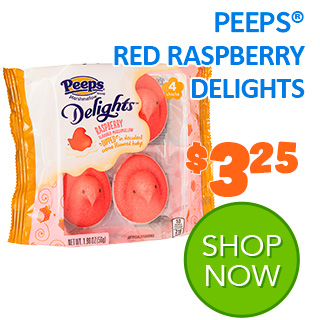 NEW for 2020 - PEEPS RED RASPBERRY DELIGHTS