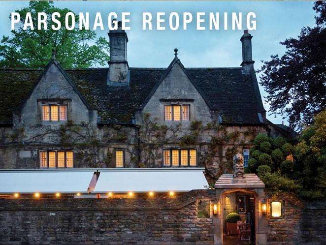 Parsonage Reopening
