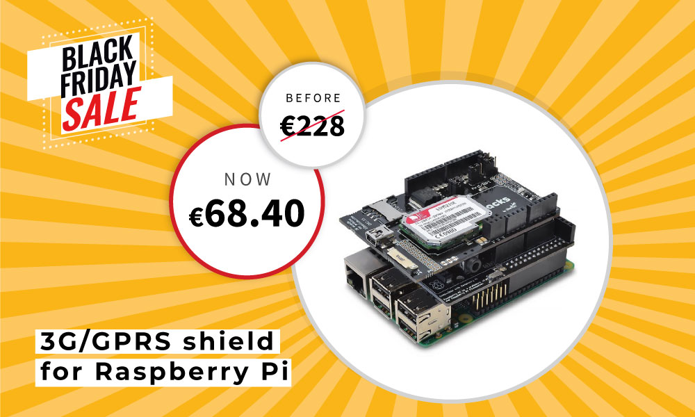 3G/GPRS shield for Raspberry Pi Up to 70% OFF