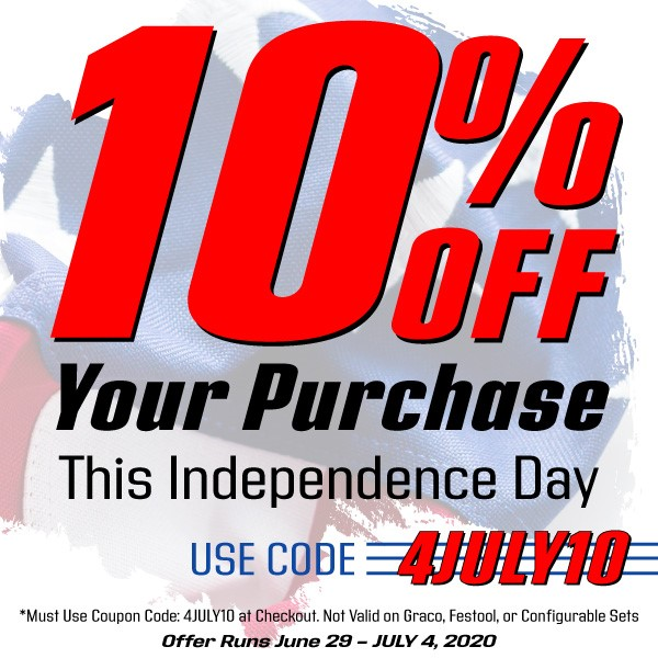 10% off your purchase through July 4th