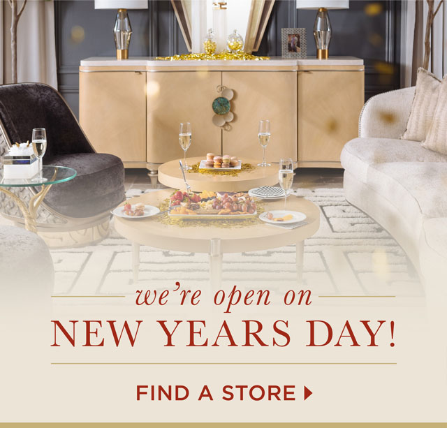 We're open on New Years Day! - Find a store