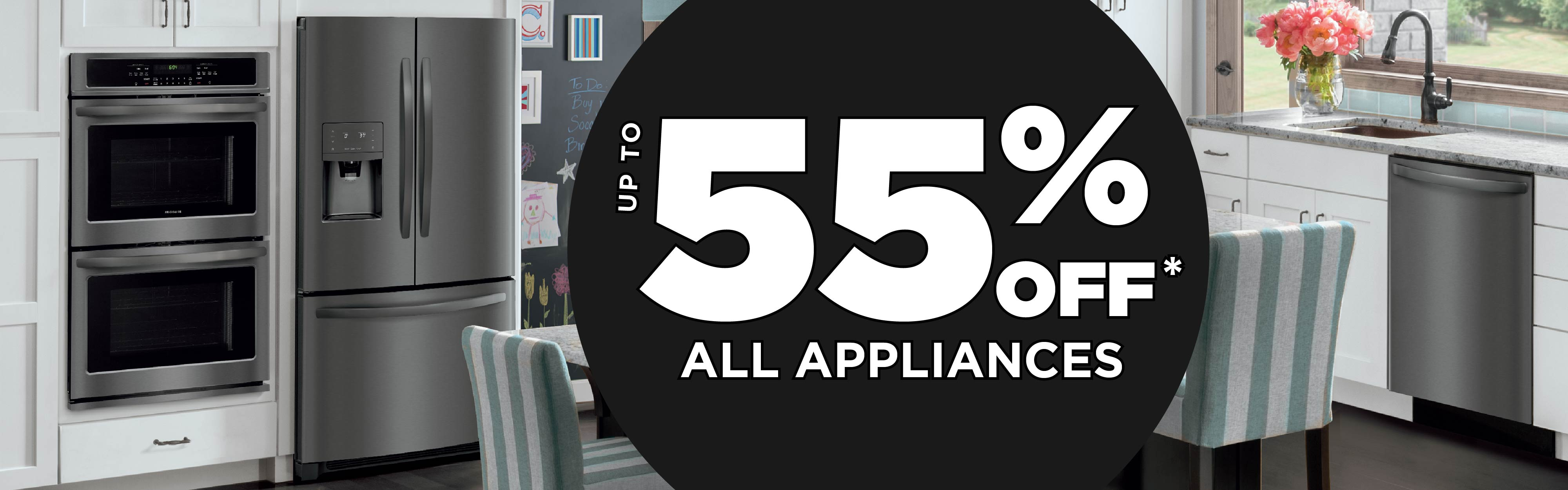 up to 55% Off All Appliances