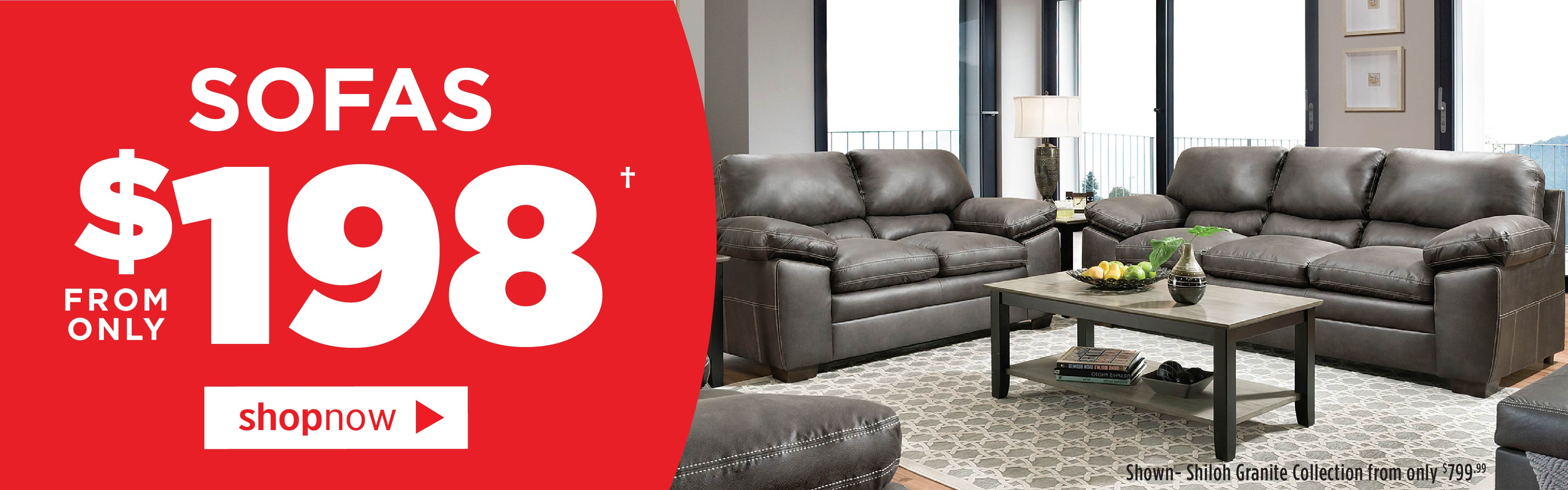 Sofas from only $198!