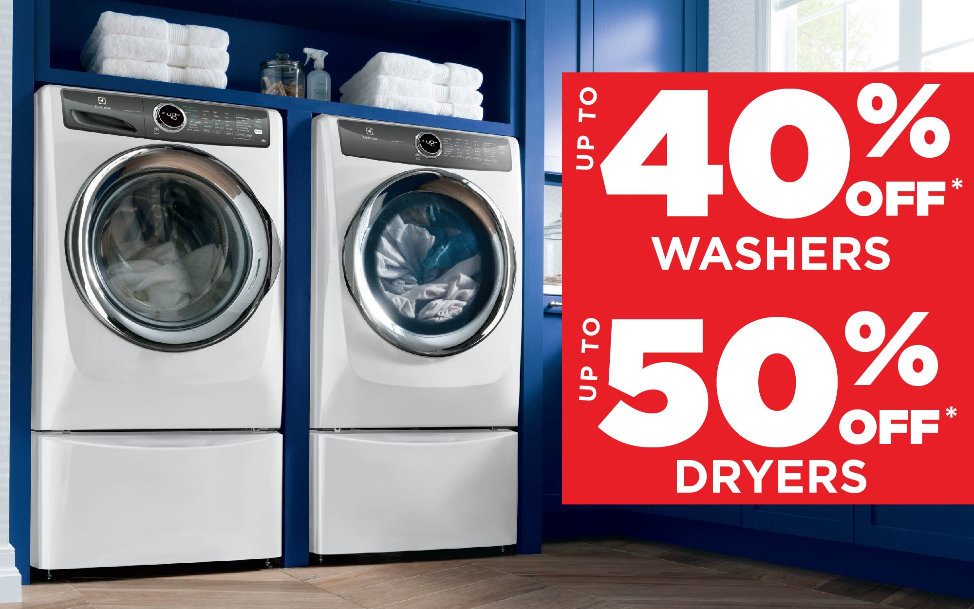 Save on Washers & Dryers!